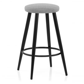Optic Stool Grey Fabric