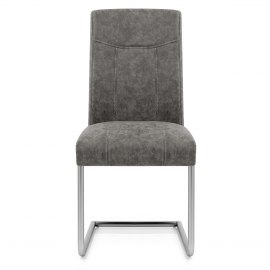 Lancaster Dining Chair Grey Leather