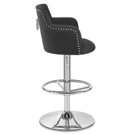 Vogue Bar Stool Charcoal Fabric