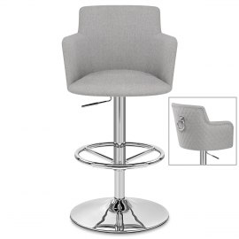 Vogue Bar Stool Grey Fabric
