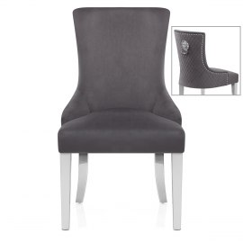 Fontaine Chair Grey Velvet