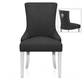 Fontaine Chair Charcoal Fabric