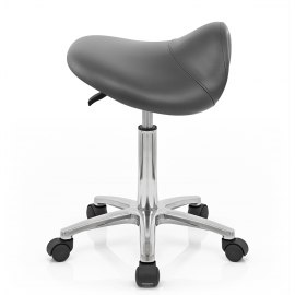 Deluxe Saddle Stool Grey