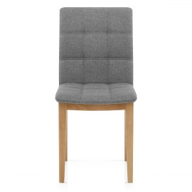 Thor Dining Chair Grey Fabric