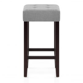 Oliver Wenge Stool Grey Fabric
