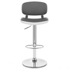 Edge Bar Stool White & Grey