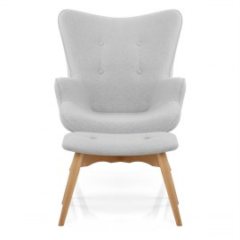 Indulge Armchair & Stool Grey