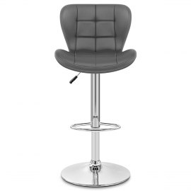Lush Chrome Stool Grey Atlantic Shopping