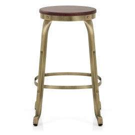 Amp Bar Stool Antique Brass