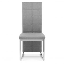 Aspen Dining Chair Grey Fabric