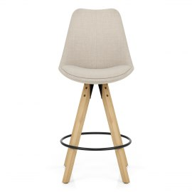 Aero Bar Stool Beige Fabric