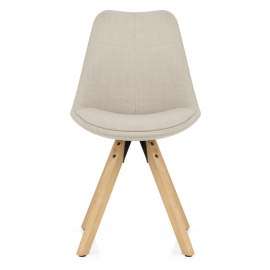 Aero Dining Chair Beige Fabric