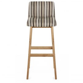 Wave Bar Stool Stripe Fabric