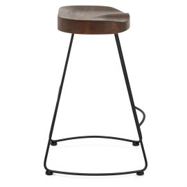 Freedom Black Stool Dark Wood