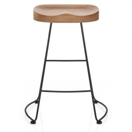Freedom Black Stool Light Wood