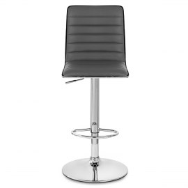 Hiline Bar Stool Grey