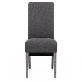 Carlo Grey Oak Chair Charcoal Fabric