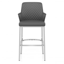 Arden Bar Stool Grey Leather
