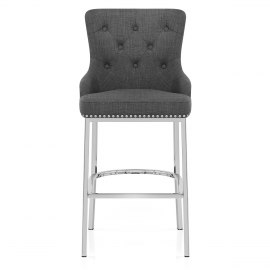 Grange Bar Stool Charcoal Fabric