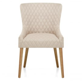 City Oak Chair Cream