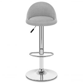 Glee Bar Stool Grey Fabric