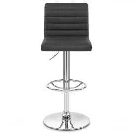 Mint Bar Stool Charcoal Fabric
