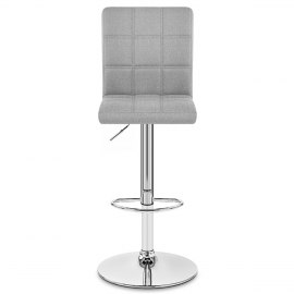 Criss Cross Bar Stool Grey Fabric