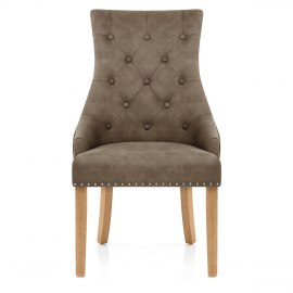 Ascot Oak Dining Chair Antique Brown