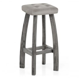 Cromwell Bar Stool Grey Velvet
