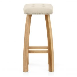 Cromwell Oak Stool Cream Velvet