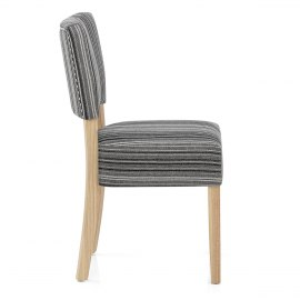 Dorchester Oak Chair Grey Stripe