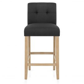 Canterbury Oak Stool Charcoal Fabric