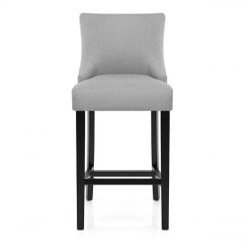 Bentley Bar Stool Light Grey Fabric