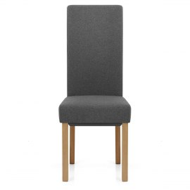 Carolina Dining Chair Charcoal Fabric