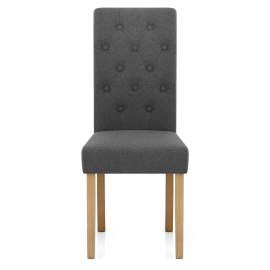 Portland Dining Chair Charcoal Fabric