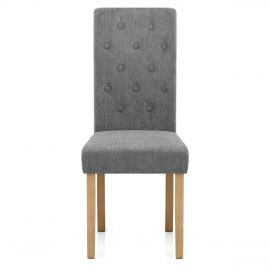 Portland Dining Chair Grey Fabric