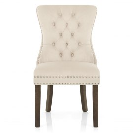 Kensington Dining Chair Beige Velvet