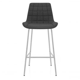 Lido Brushed Stool Charcoal Fabric