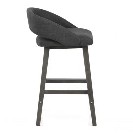 Halo Bar Stool Charcoal Fabric