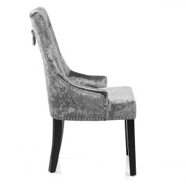Ascot Dining Chair Grey Velvet