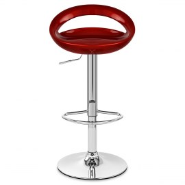 Crescent Bar Stool Red