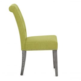 Moreton Dining Chair Green Fabric