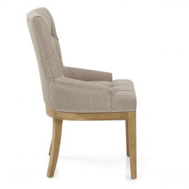 Knightsbridge Oak Chair Tweed Fabric