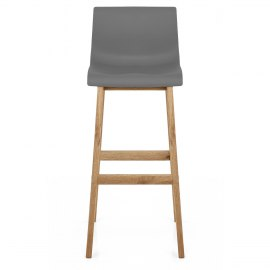 Drift Oak & Charcoal Bar Stool