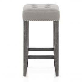 Dove Bar Stool Grey Velvet
