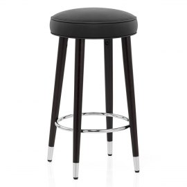 Conrad Bar Stool Black Leather
