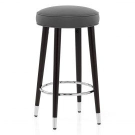 Conrad Bar Stool Grey Leather