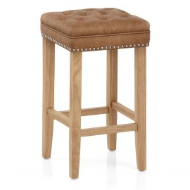 Belgravia Oak Stool Antique Brown
