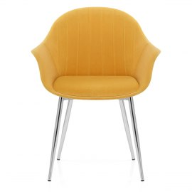 Flare Dining Chair Mustard Velvet