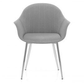 Flare Dining Chair Grey Velvet